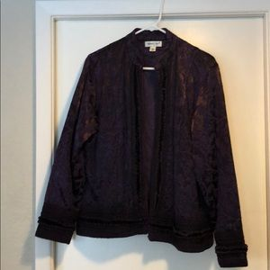 Coldwater Creek Blazer/jacket purple size Large